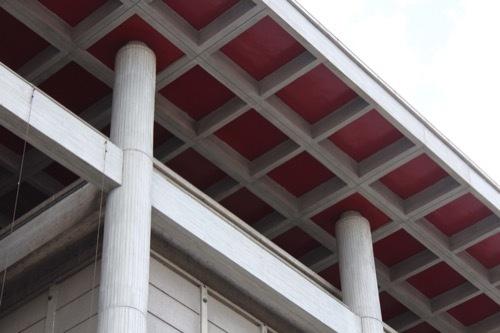 0255:大津市庁舎 庇裏の格子