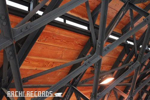 0268:九谷焼窯跡展示館 トラス屋根②