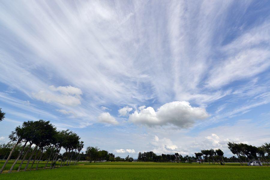 夏空に雲-1