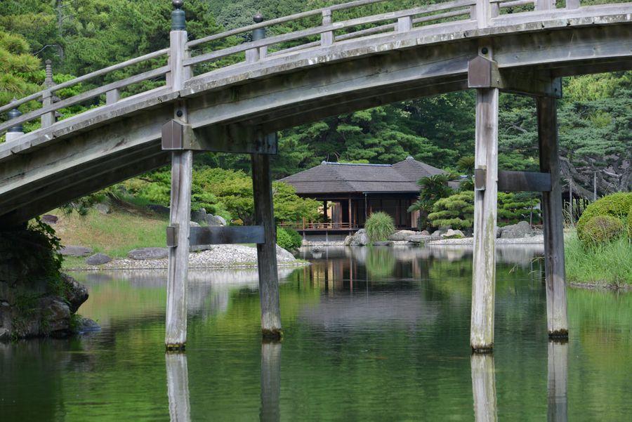 栗林公園  偃月橋-5