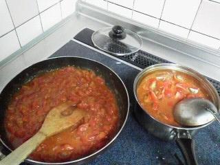 170727八木橋頂き物トマト料理4