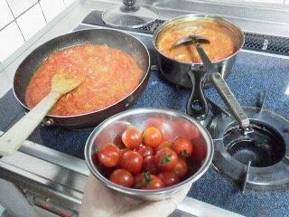 170727八木橋頂き物トマト料理6