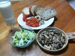 170728八木橋頂き物野菜にて夕食