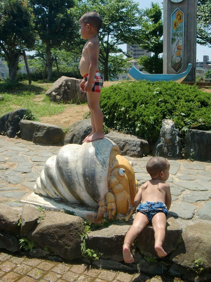 南行徳公園 水遊び