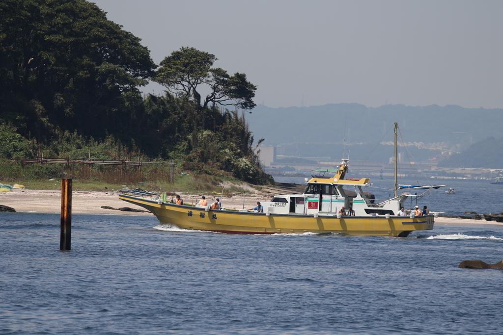 走水の漁港に釣り船が戻ってきた_7