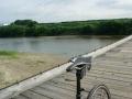 170723流れ橋は自転車押し歩き