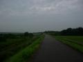 170811湖岸の自転車道から野洲川堤防を遡る