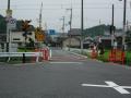 170811草津線を渡り旧東海道をクランク状に通過