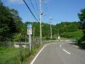 170909畑の三叉路を左へ入り県道522号へ