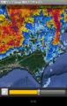 170918雨雲レーダーで台風追跡