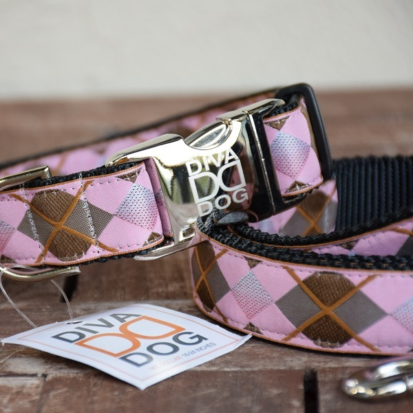 ARGYLE DOG COLLAR AND LEASH SET_600_1