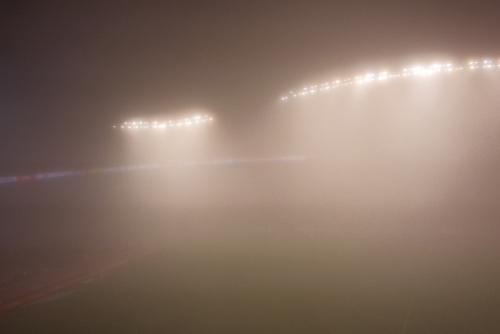 アントラーズ 濃霧で中止