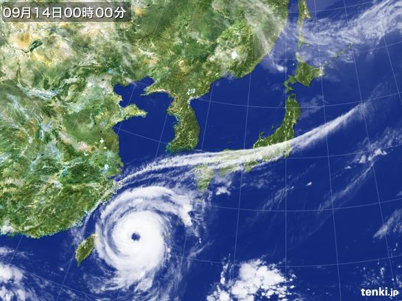 2017091400台風18号
