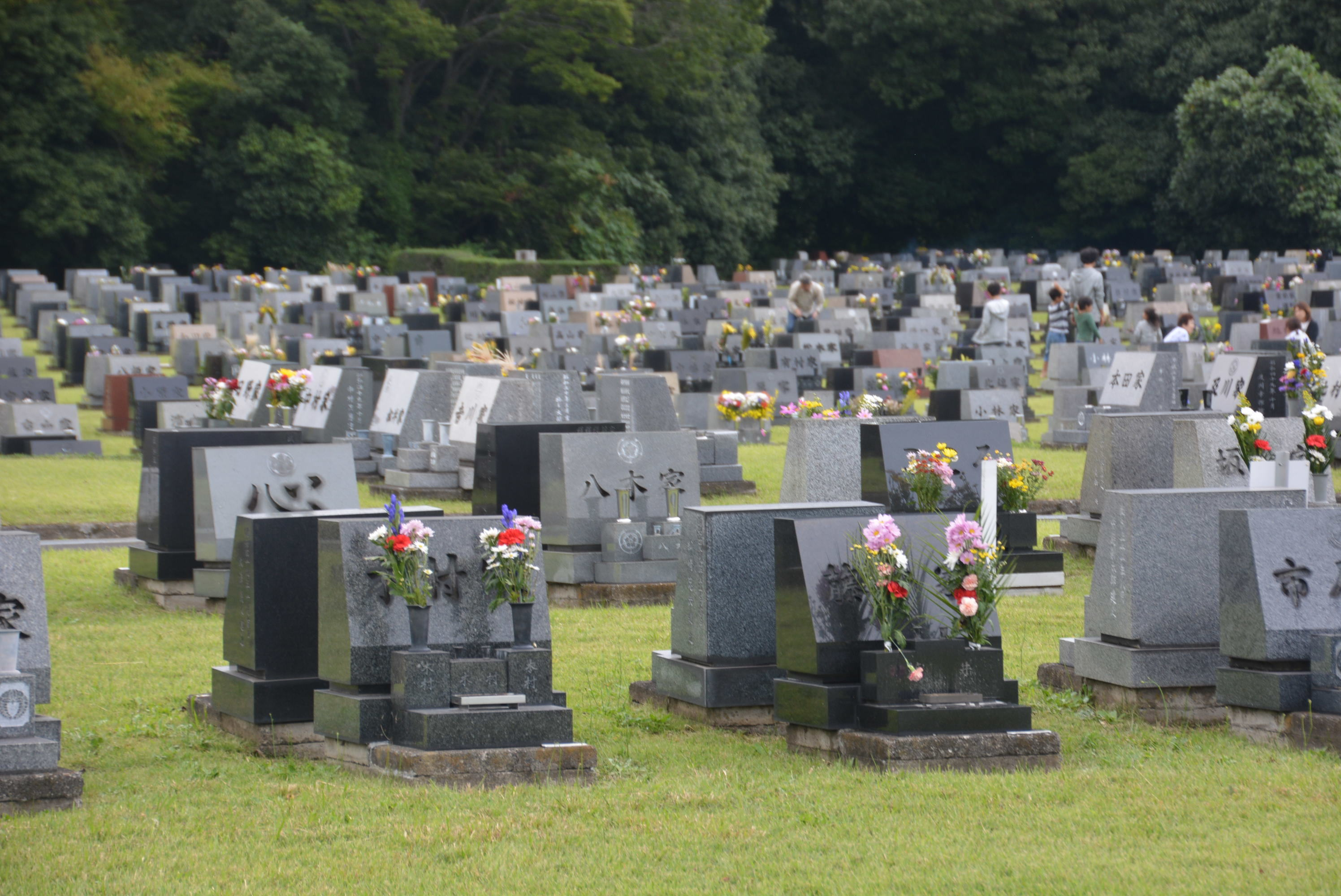 午後 墓参り