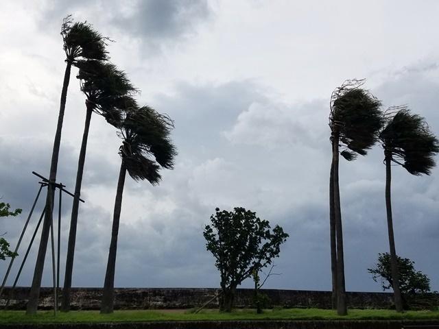 台風5号接近1