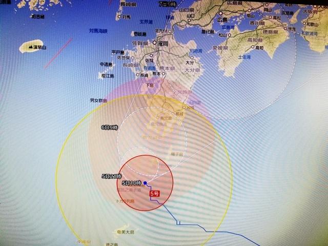 台風5号接近6
