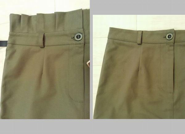 カーキタイトスカート12