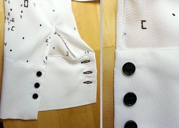 copブラウス袖丈15