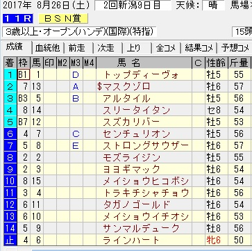 17BSN賞結果