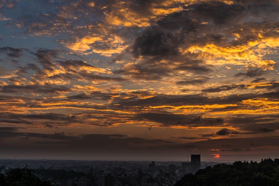 2017.07.29卯辰山からの夕焼け