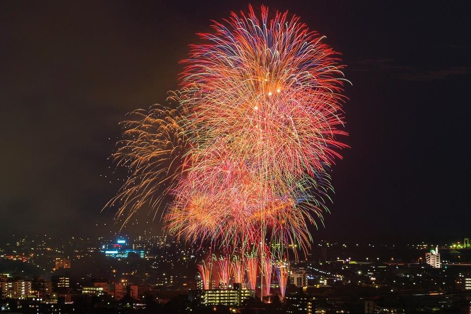 2017.07.29金沢市_犀川花火大会23_花火合成