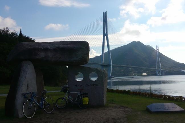 朝の多々羅大橋