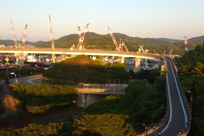 しまなみ海道来島海峡大橋のアプローチ橋