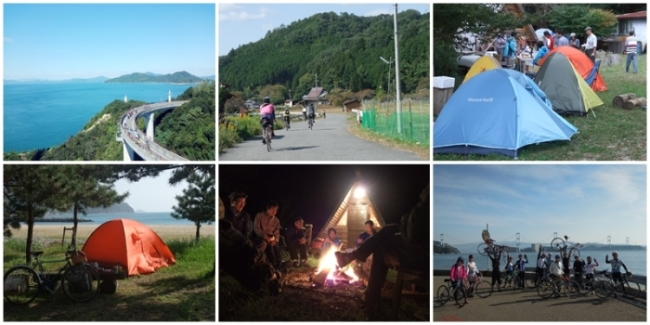 しまなみ海道キャンプライドのイメージ写真