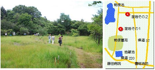豊明湿地その1マップ