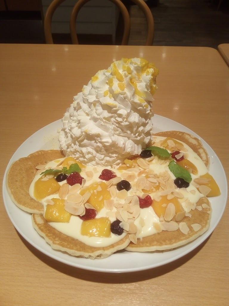 マンゴーのパンケーキ