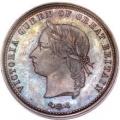 ニュージーランド ペニートークン青銅貨 1879年 ヴィクトリア MS64 未使用
