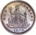 ニュージーランド ペニートークン青銅貨 1879年 ヴィクトリア MS64 未使用2