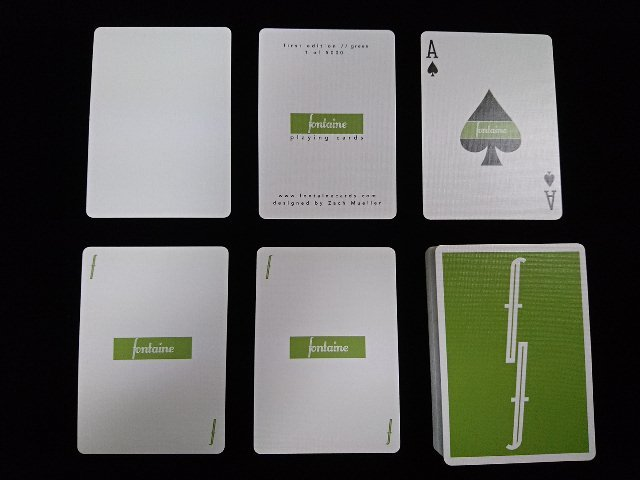 Fontain Playing Cards Green (5)