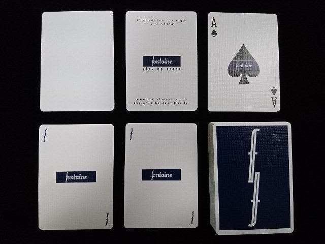 Fontain Playing Cards Deep Blue (5)