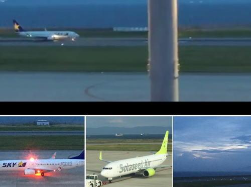 神戸空港に飛行機を観に行ってきた。