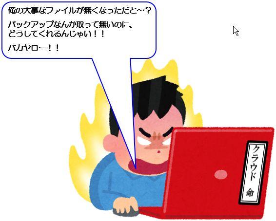 PCの前で怒る男