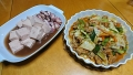 いか豆腐 ホルモン野菜炒め 20170920