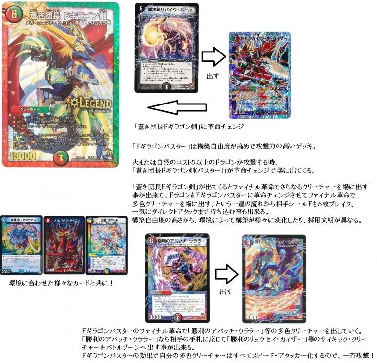 ドギラゴンバスター デッキ解説画像