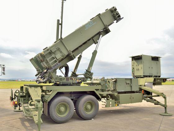航空自衛隊の地上配備型迎撃ミサイル「パトリオット」(PAC3)