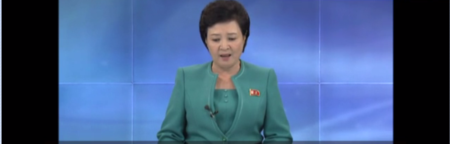 北朝鮮の国営放送の女性アナウンサー