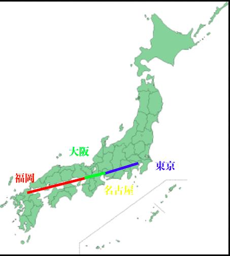 日本地図平成29年9月1日