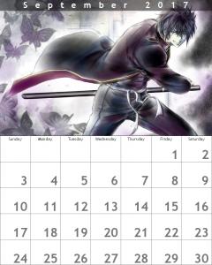 9月 カレンダー