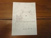 黒猫妄想画