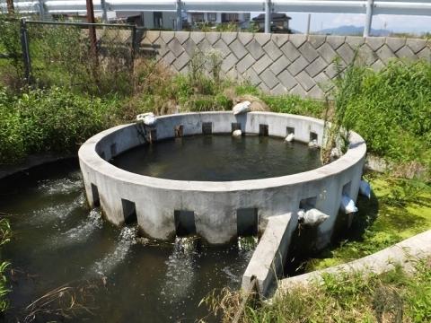 西天竜幹線水路円筒分水工