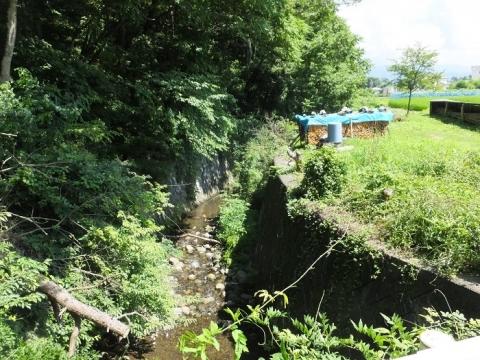 西天竜幹線水路と交差する鳥谷川