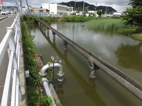 水路橋と高溝揚水機