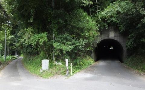 金山ダムへの道・金山隧道