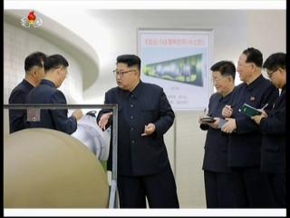 20170903 경애하는 최고령도자 김정은동지께서 핵무기병기화사업을 지도하시였다mp4_000163960