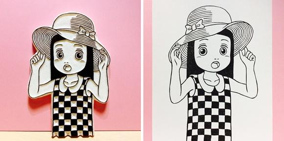 麦わら帽子まり 原版と印影