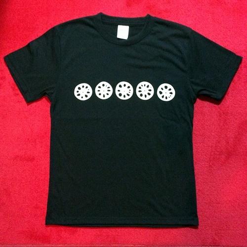 レンコンTシャツ ブラック フロント